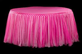 tulle tutu 14ft table skirt fuchsia pink