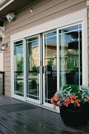 andersen sliding french doors leading out to deck suburban es