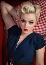 mixing 40s glamour with cheeky pin up style this rolled look has each hair perfectly in place if you re new to these styling techniques we remend