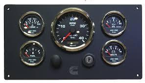 black cummins engine instrument panel ac dc marine inc black cummins black gauges