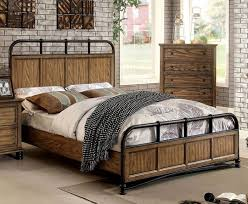 image cassic industrial bedroom furniture. Furniture Of America CM7558Q Mcville Industrial Dark Oak Finish Queen Bed Image Cassic Bedroom P