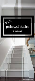 Painted Stairs Stop And Stare A Painted Stairs Tutorial Heathered Nest