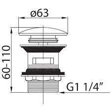 <b>Cezares Articoli</b> Vari CZR-SAT2-02 <b>донный клапан</b> для раковины ...