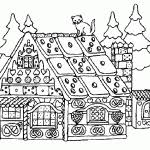 Small Picture gingerbread house coloring page to print printable gingerbread