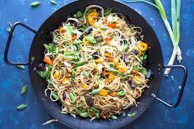 vegetable lo mein noodles the kitchen