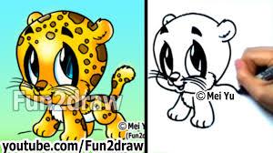 drawn leopard cute 2