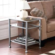 metal and glass side table glass end tables home silver side table metal and glass end tables uk