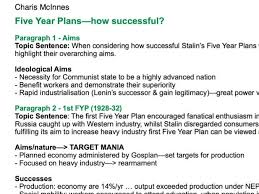 charis mcinnes s shop teaching resources tes history a level success of the stalin s five year plans essay plan