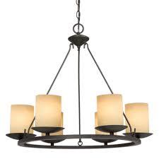 six light bronze candle chandelier 6xkxl mcinnis lighting