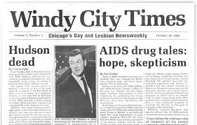 "Image result for 1985  Rock Hudson dies of AIDS""(HISTORY)"