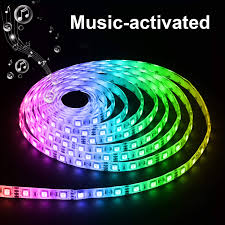 Led Lights Sync To Music Music Led Strip Light Sync To Music Rope Light Waterproof 16 4ft 300 Leds Rgb 5050 Led Tape With Remote Controller Ir Receiver Power Supply