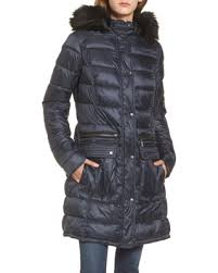 Hot Winter Bargains on Women's Barbour Dunnet Water Resistant ... & Women's Barbour Dunnet Water Resistant Hooded Quilted Coat With Faux Fur  Trim, Size 8 US Adamdwight.com