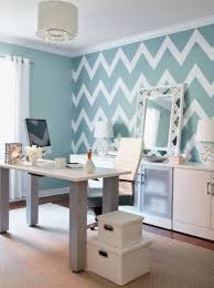 office decoration ideas work. Chevron Wallpaper With Drum Shaped Pendant Lamp For Amazing Work Office Decorating Ideas Women Decorative Wall Mirror Decoration