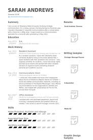 Resident Assistant Resume Samples VisualCV Resume Samples Database Classy Resident Assistant Resume