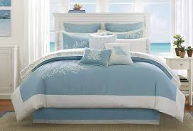 beach themed queen bedding sea life comforter sets beach style duvet covers coastal bed in a bag nautical quilt queen