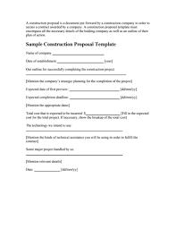 Free Construction Bid Proposal Template Download Construction Proposal Template Free Download Create Fill Print