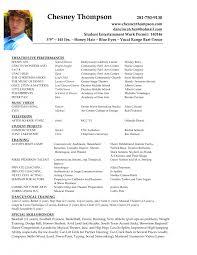 Sample Headshot Resume Headshot Resume Format Acting Modeling Resumes Template Samples 21