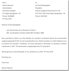 Termination Of Business Partnership Letter Template