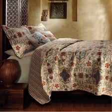 Full / Queen 5 Piece Oversized Cotton Quilt Set with Bohemian ... & Full / Queen 5 Piece Oversized Cotton Quilt Set with Bohemian Motifs Adamdwight.com