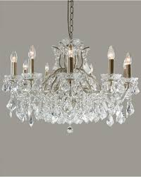 brushed gold light shallow glass crystal chandelier modern traditional