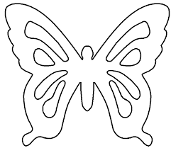 Printable Butterfly Outline Free Printable Butterfly Cutouts Download Free Clip Art