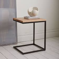 into the west rustic furniture. box frame cbase side table rustic mangoantique bronze into the west furniture