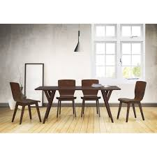 Bentwood Dining Table Slye Dark Walnut Bent Wood 5 Piece Dining Set Reviews Allmodern