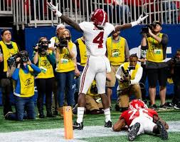 Alabama Wide Receiver Jerry Jeudy 4 Scelebrates After His