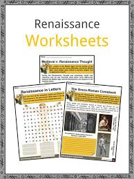 Flow Chart Of Medieval Period The Renaissance Period Facts Information Worksheets