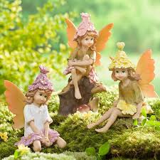 fairy garden statues. Colorful Chile Fairy Garden Statues