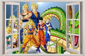 Dragon Ball Z Decorations DRAGON BALL Z 100D Window View Decal WALL STICKER Decor Art Mural 100