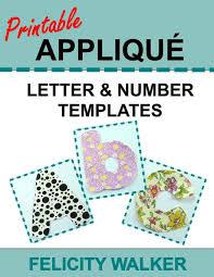 Printable Applique Letter Number Templates Alphabet
