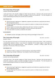 Customer Service Representative CV Template net