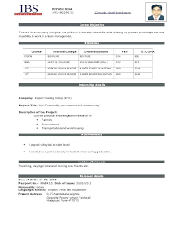 New Resume Format For Freshers Best Format For Resume Ideas Of New