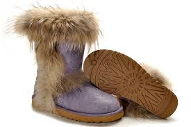 Ugg Wahterproof Fox Fur Boots 5825 Purple Outlet,uggs bailey button,ugg  boots on sale,Cheap