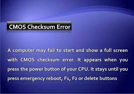 Ошибка cmos checksum error как устранить проблему