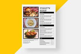 A La Carte Menu Template Restaurant Menu Template Menu Template Restaurant Menu Printable Menu Pictures Editable Menu Word Menu Google Doc Menu