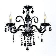 crystal beads for chandelier elegant black swirled crystal arms mini chandelier hanging crystal strands and beads