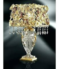 crystal chandelier table lamps chrome round crystal chandelier