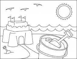 What's going on at the beach? Beach Coloring Pages Beach Scenes Activities
