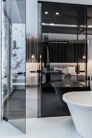 Glass Partition Wall Between Bathroom And Bedroom Bathroom Amazing Partition For Bathroom Style