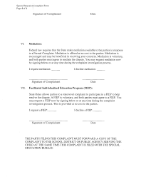Special Education Formal Complaint Form