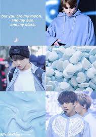Light Blue Bts Jungkook Baby Blue Aesthetic