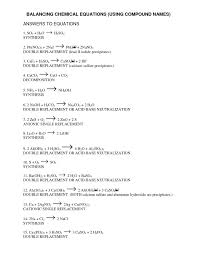 chemistry equations worksheet worksheets