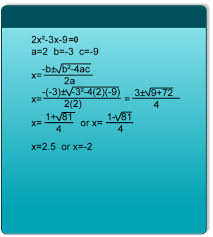 we have then simplified and solve the quadratic formula to get the two solutions