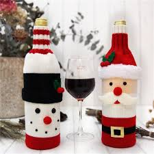 red wine bottle covers gift bags home dinner party table decoration new year