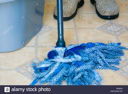Kitchen Floor Mops Blue Cloth Mop Head Grey Plastic Bucket For Mopping Washing