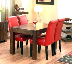 red leather dining chairs modern red leather dining chairs room
