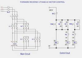 forward reverse 3 phase ac motor control wiring diagram throughout reversing a single phase motor with a contactor at Wiring Diagram For Forward Reverse Single Phase Motor