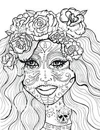 Day Of The Dead Coloring Page Day Of The Dead Coloring Pictures